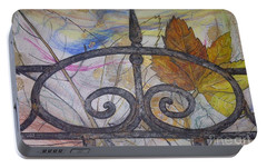 Portable Battery Charger featuring the mixed media As It Comes 2 by Malinda  Prudhomme