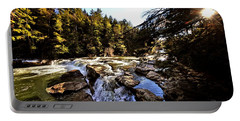 As Lawrence Welk Used To Say-ah Waterfall Waterfall Portable Battery Charger by Robert McCubbin