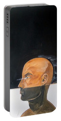 Portable Battery Charger featuring the painting As Vapor Gutural by Lazaro Hurtado