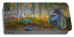 Portable Battery Charger featuring the photograph Aspen Grove by Jim Thompson