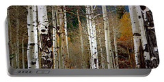 Aspen In The Rockies Portable Battery Charger by Lynn Sprowl