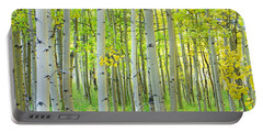 Aspen Tree Forest Autumn Time  Portable Battery Charger
