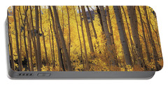 Aspen Trees In Autumn, Colorado, Usa Portable Battery Charger