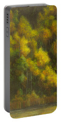 Aspens And Cattails Portable Battery Charger