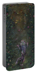 Portable Battery Charger featuring the painting Aspiration Of The Koi by Shadia Derbyshire