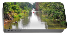 Portable Battery Charger featuring the photograph Assawoman Canal - Delaware by Kim Bemis