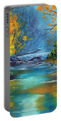 Portable Battery Charger featuring the painting Assurance by Meaghan Troup