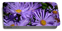 Asters After The Rain Portable Battery Charger