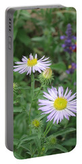 Asters In Close-up Portable Battery Charger