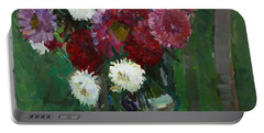 Asters In The First Frosts Portable Battery Charger