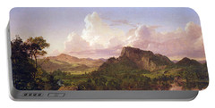 At Home On The Lake By Frederick Edwin Church Portable Battery Charger