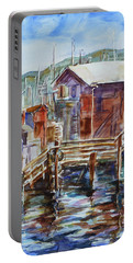 At Monterey Wharf Ca Portable Battery Charger by Xueling Zou