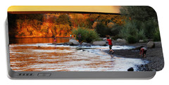 Portable Battery Charger featuring the photograph At Rivers Edge by Melanie Lankford Photography