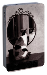 Portable Battery Charger featuring the photograph At The Mirror by Laura Melis