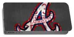 Atlanta Braves Baseball Team Vintage Logo Recycled Georgia License Plate Art Portable Battery Charger