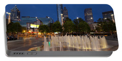 Atlanta By Night Portable Battery Charger by Alexey Stiop