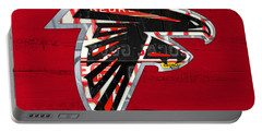 Atlanta Falcons Football Team Retro Logo Georgia License Plate Art Portable Battery Charger
