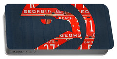 Atlanta Hawks Basketball Team Retro Logo Vintage Recycled Georgia License Plate Art Portable Battery Charger