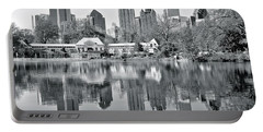 Atlanta Reflecting In Black And White Portable Battery Charger
