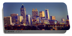 Atlanta Skyline At Dusk Downtown Color Panorama Portable Battery Charger
