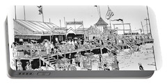 Atlantic City Boardwalk 1883 Portable Battery Charger by Ira Shander