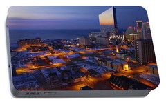 Portable Battery Charger featuring the photograph Atlantic City At Dawn by Joan Reese