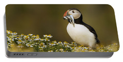 Atlantic Puffin Carrying Fish Skomer Portable Battery Charger