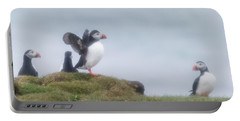 Atlantic Puffins Fratercula Arctica Portable Battery Charger by Panoramic Images