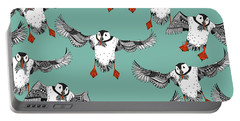 Atlantic Puffins Mint Portable Battery Charger by Sharon Turner