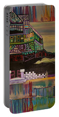 Portable Battery Charger featuring the painting Atlantis by Barbara St Jean