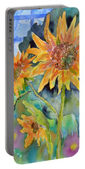 Attack Of The Killer Sunflowers Portable Battery Charger
