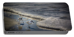 Attack Of The Sea Foam Portable Battery Charger by Marvin Spates