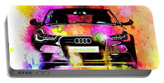 Audi A6 Avant Watercolor Portable Battery Charger by Daniel Janda