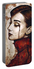 Audrey Hepburn Portrait Portable Battery Charger