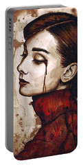 Audrey Hepburn - Quiet Sadness Portable Battery Charger