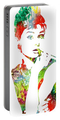 Audrey Hepburn - Watercolor Portable Battery Charger