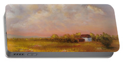 Portable Battery Charger featuring the painting August Afternoon Pa by Katalin Luczay