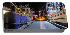 Portable Battery Charger featuring the photograph Auke Bay By Night by Cathy Mahnke