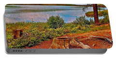 Aunt Betty Pond In Acadia National Park-maine  Portable Battery Charger by Ruth Hager