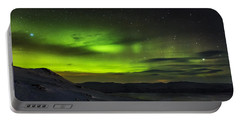 Aurora Borealis Or Northern Lights Seen Portable Battery Charger