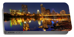Portable Battery Charger featuring the photograph Austin On The Rocks by Dave Files