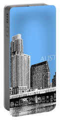 Austin Skyline - Sky Blue Portable Battery Charger
