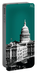 Austin Texas Capital - Sea Green Portable Battery Charger