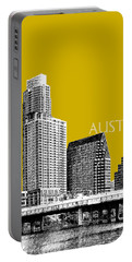 Austin Texas Skyline - Gold Portable Battery Charger
