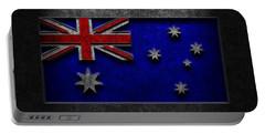 Australian Flag Stone Texture Portable Battery Charger