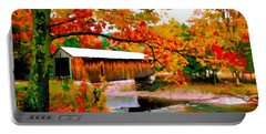 Authentic Covered Bridge Vt Portable Battery Charger