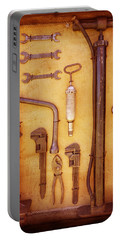 Auto Mechanic Vintage Tools Portable Battery Charger by Ann Powell