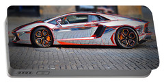 Portable Battery Charger featuring the photograph Automobili Lamborghini by Gary Keesler
