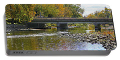Autumn Along The Fox River Portable Battery Charger by Kay Novy