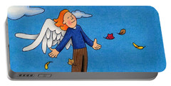 Autumn Angel Portable Battery Charger by Sarah Batalka
